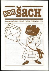 časopis Korespondenční šach ročník V 1995 - 6 čísel
