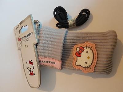Pouzdro Obal Ponožka UNI pro mobil iPhone SE 2020 Hello Kitty GreyPink