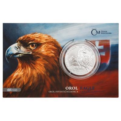 Stříbrná uncová investiční mince Orel 2021 stand číslovaný