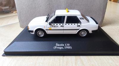 Rarita Škoda 130 1/43 TAXI Praga 1988 Ne Abrex,Kaden