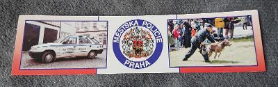 Papírové pravítko s rozvrhem Městská policie Praha