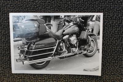 Staré fotografie - Motocykl Harley Davidson
