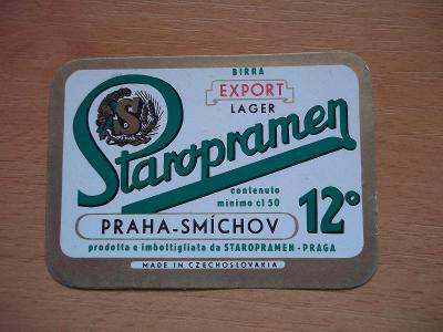 Pivní etiketa Praha - Smíchov IH1