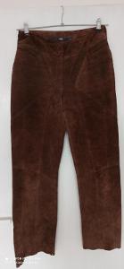 Super kožené kalhoty, volný střih, zn. TCM