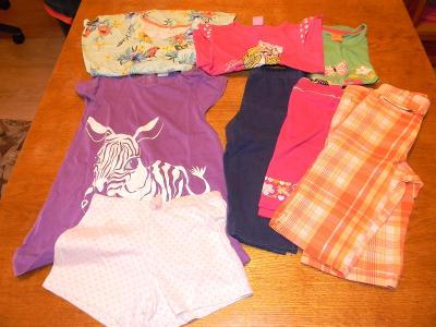 Letní oblečení - dívčí - velikost 86-92 ; 8 ks