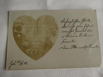 Starý pohled rodinný portrét v srdci 1902