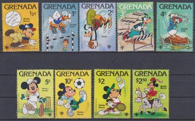 Grenada1979, kompl. serie mezinárodní rok dětí, sport, kreslené,svěží,
