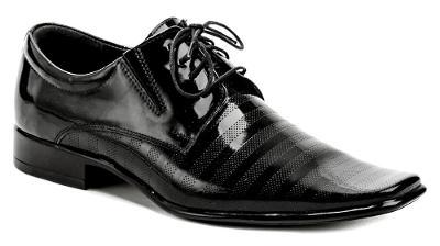 pánské společenské boty Wawel T1286/D černá, vel.44, NOVÉ
