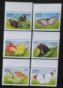 Maledivy 1999 Mi.3225-0 5€ Motýli a hmyz Malediv