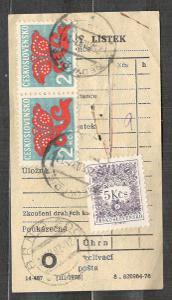 Doplatní DL 91 a 99, poplatkový lístek 1982, raz Brno a Nedvědice