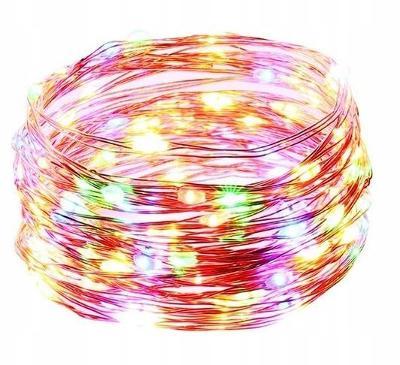 50 LED světelný řetěz drát barevné 0467