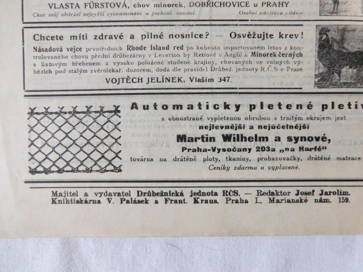 Tři staré časopisy o chovatelství drůbeže a prasátek - Antikvariát