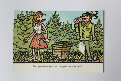 NEPRAKTA - kreslená pohlednice z cyklu ochrany životního prostředí č.7