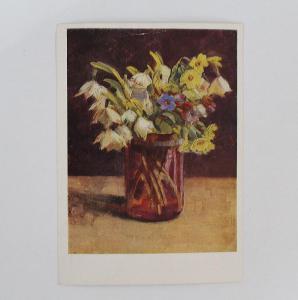 Jarní kytice - pohlednice