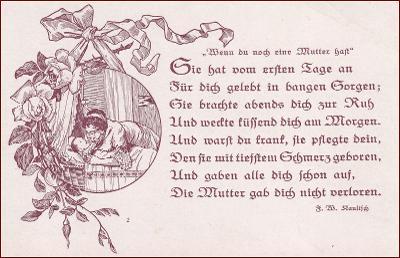 Žena * matka, děti, kolébka, báseň, gratulační * M5652