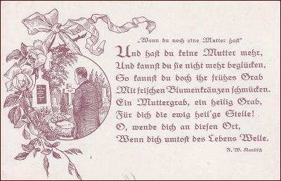 Muž * hrob, hřbitov, smutek, báseň, gratulační * M6637