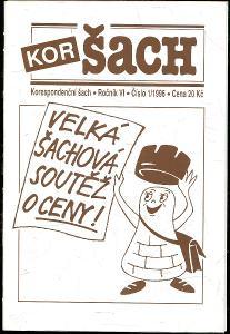 časopis Korespondenční šach ročník VI 1996 - 6 čísel