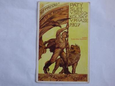 Slet všesokolský 1907, mf, neprošlá