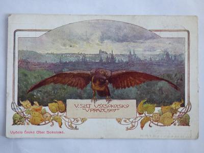 Sokolský slet Praha 1907, mf, neprošlá
