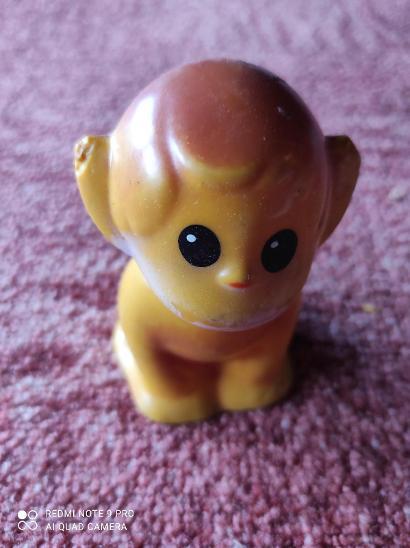 Retro pískací hračka opička - Starožitnosti