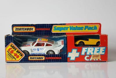 Matchbox Super Kings Porsche Racing + Super G.T., r.v.1983-1985 (1986