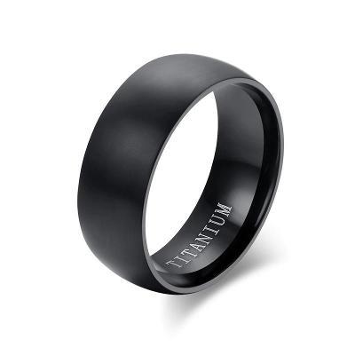Prsten titanový černý TITAN obyčejný 21x8mm