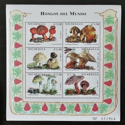 Nikaragua 1999 Mi.4035-0 8€ Houby a flora Jižní Ameriky, mykologie