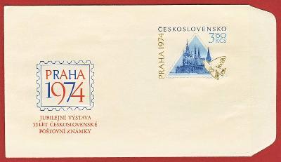 Československo Obálka - 55 let Československé poštovní známky 1974