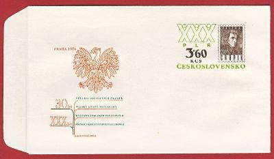 Československo Obálka - Výstava poštovních známek - 30 let PLR 1974
