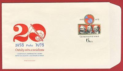 Československo Obálka - 20 výročí časopisu Otázky míru a soc. 1978