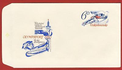 Československo Obálka - Celostátní výstava pošt.známek OLYMPSPORT 1980