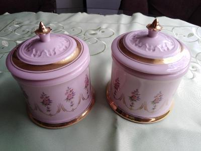 Cukřenka z růžového porcelánu