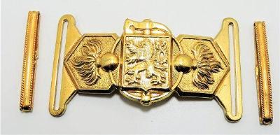 Hasičská přezka První republika - zlatá