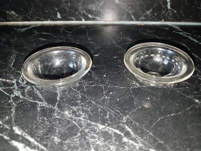 skleněná miska na kónickou svíčku průměr 4,5 cm, sada 2 ks