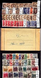 Sestava ražených rakouských známek 2 destičky a sešit v ceně 1065 Kč
