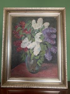 Olejomalba - Květiny ve váze
