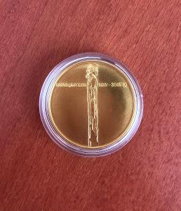 Vzácná zlatá mince JAN HUS - 1 Oz - Proof