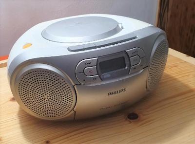 Philips AZ127/12, přenosné FM rádio s CD, magnetofon