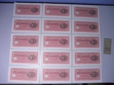 10 ZEHN REICHSMARK 1944 - FUR DIE DEUTSCHE WEHRMACHT -  15 TOP KUSŮ !!