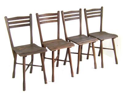 4 x Židle zahradní Thonet Nr.5, 1900ca