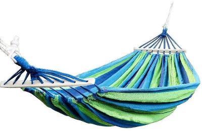 Závěsné lehátko s ramem houpací síť hamak pro dva 180x150cm S1
