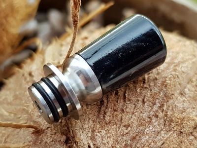 Náustek / Nerez + Resin Hybrid 510 Drip Tip  černý