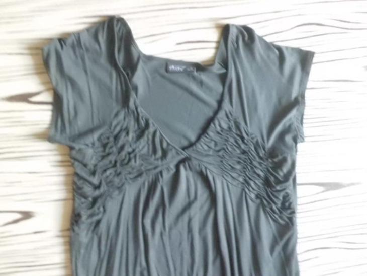 OKAY velmi pěkné pružné trikové šaty/delší tunika/ XL - Dámské oblečení
