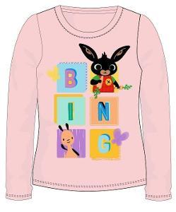 Dívčí licenční triko BING lososové vel. 116
