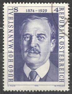 Rakousko 1974 Mi 1438 Hugo von Hofmannsthal básník spisovatel