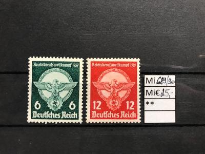 DR, Deutsches Reich, Mi. 689/90