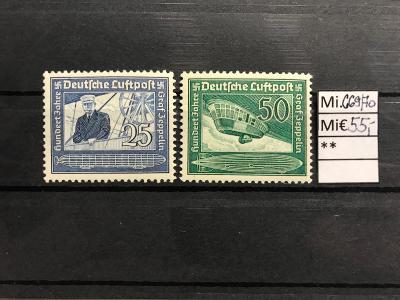 DR, Deutsches Reich, Mi. 669/70 Zeppelin