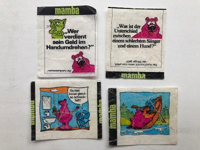4x starý žvýkačkový obal - obrázek Mamba