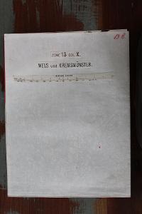 Mapa, Rakousko, Wels und Kremsmuns, cca 49 x 38 cm, cca 1910, vojenské