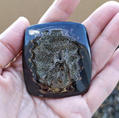 Simbircitová geoda, ID 162, 53x49 mm
